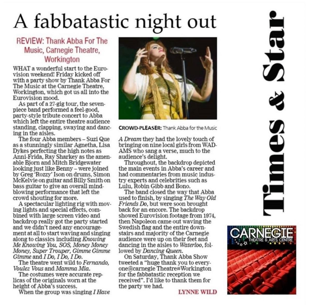 Review - Thank ABBA For The Music - Workington 13052016.jpg